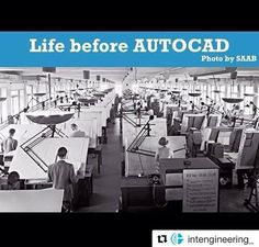 La vida antes de #AutoCad 😱 vía Twitter Geotechtips