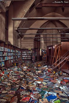 Abandoned Mark Twain Library in Detroit (A Good Read by bpdphotography, via Flickr)
