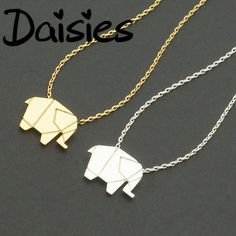 Daisies Tiny Elephant Pendant Necklace Women Statement Necklace Animal Elephant Jewelry Necklaces Collier