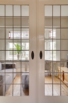 Living Room Interior, Home Interior Design, Interior Paint, Loft Door, Room Divider Doors, Double Doors Interior, Home Reno, Classic House, Little Houses