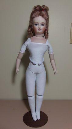 "Antique Reproduction French Fashion Smiling Bru Doll 17"" | eBay"