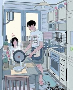 This Korean Artist Giving Serious Through His Illustration Drawing amor boy dark manga mujer fondos de pantalla hot kawaii Cute Couple Drawings, Cute Couple Art, Anime Love Couple, Couple Cartoon, Cute Anime Couples, Cute Drawings, Horse Drawings, Paar Illustration, Korean Illustration
