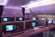 hintere Business Class A350 Singapore Airlines (Reihe 19-22) - Check more at https://www.miles-around.de/trip-reports/business-class/singapore-airlines-business-class-airbus-a350-900-duesseldorf/,  #A350-900 #Airbus #DUS #SIN