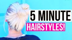 Hey guys! Here is another back to school video for all of you to see! I am showing you guys some easy and quick hairstyles that you can do in under 5 minutes...