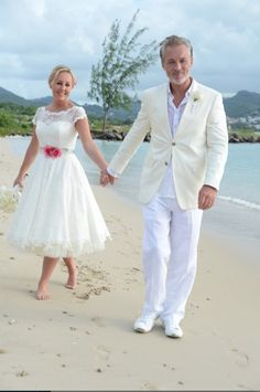 Shirlie Holliman Kemp and Martin Kemp renew their vows on the beautiful island of St. Lucia. From Shirlie Kemp's twitter and blog (shirliekempblog.com). Photo by Harleymoon Kemp.