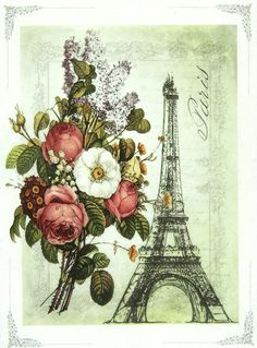 Ricepaper/Decoupage paper,Scrapbooking Sheets /Craft Paper Eiffel Tower Drawing | eBay