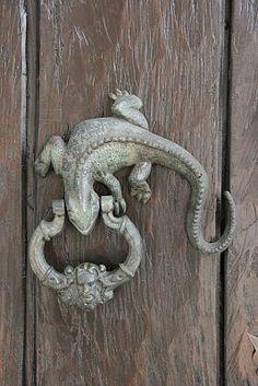 The Coolest door knocker I've ever seen!!  Love it!!