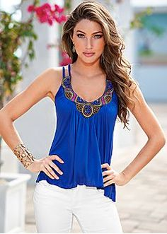 Sleeveless Tops - Halter Tops, Cami, Tank Tops, One Shoulder Styles & More