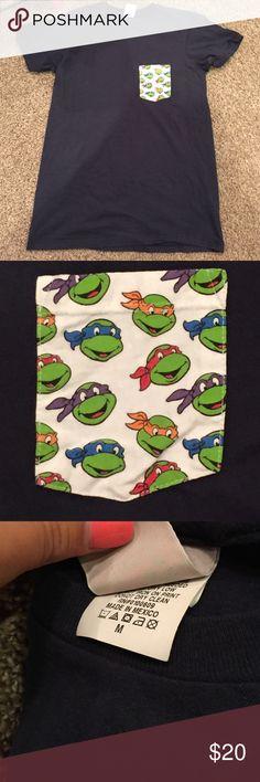Ninja Turtle Tshirt! Unisex tshirt from Urban Outfitters! Navy blue Junk Food Tops Tees - Short Sleeve