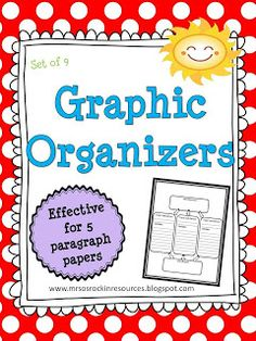 9 FREE GRAPHIC ORGANIZERS FOR NARRATIVE, OPINION, AND INFORMATIVE WRITING!  Designed by Rockin Resources