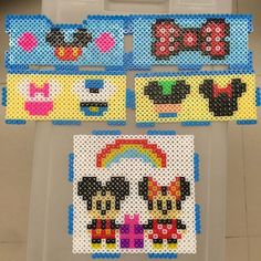 Mickey and Minnie mouse box perler beads by mightyatomc