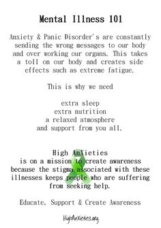 Anxiety, stress & Panic Disorder - understanding from you all