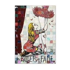 FAILE (Brooklyn-based art collective in the form of Patrick Miller and Patrick McNeill) Les Ballets de Faile, 2013 Silkscreen on paper Dimensions: 111.8 x 86.4 cm Edition of 500