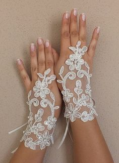 Wedding Bridal Glove Elegant light ivory lace bridal gloves Frenchivory lace lace wedding gloves ... Soft and delicate Made with love to make your special day a fairytale ... french lace use