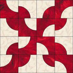 Drunkard's Path Quilt Pattern Variations   But a Drunkard's Square??