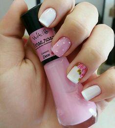 Cute Nails, Pretty Nails, Flower Nails, Hair And Nails, Nail Designs, Nail Polish, Nail Art, Pure Products, Beauty