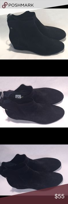 Women's Nurture Black Ankle Booties  Size 7.5 NEW These wedge booties are very comfortable. Black leather.pull on and ..: brand new. 7.5 medium. Made by Nurture Nurture by Lamaze Shoes Ankle Boots & Booties