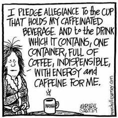 Coffee pledge in honor of Independence day, 4th of July