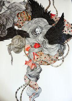 The Tension Of Creation by Lina Kusaite, via Behance