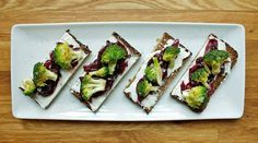 Smørrebrød Sandwich with Onion Jam and Broccoli  Adapted from Nicolaus Balla, Bar Tartine, San Francisco