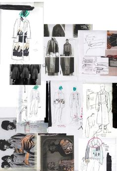 Fashion Sketchbook pages - fashion design development & sketches; fashion portfolio // Lori Stayte