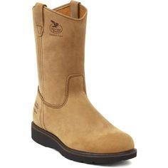 "Men's Farm & Ranch 11"" Tan Pull-On Wellington Work Boots - Georgia Boot - Style #G4432"