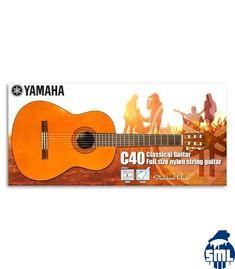 Este pack é direcionado para os iniciantes que querem uma boa relação preço e qualidade. O pack contém uma guitarra clássica C-40, um saco e um afinador YTC-5.