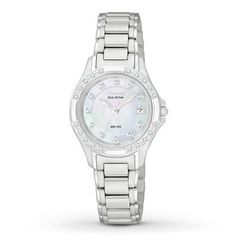 Citizen Watch, Women's Eco-Drive Diamond Accent Stainless Steel Bracelet - All Watches - Jewelry & Watches - Macy's Stainless Steel Bracelet, Watches For Men, Wrist Watches, Bracelet Watch, Jewelry Watches, Fine Jewelry, Citizen Watches, Diamond, Bracelets