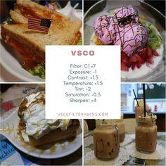 VSCO Filter Hacks - VSCO Filters for Food - VSCO Filter Hacks
