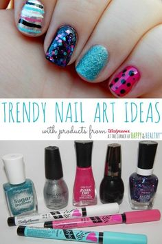 Trendy Nail Art Tutorials and Makeup Tips with #walgreensbeauty #shop #cbias