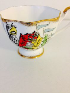 The Queen's Beast China Teacup Queen Anne by vintagebygramma