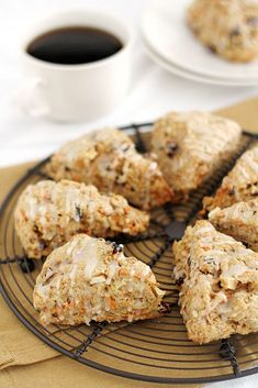 Morning Glory Scones are chock full of flavor and a little bit of added healthy goodness. The perfect scones recipe to make for breakfast! Brunch Recipes, Bread Recipes, Breakfast Recipes, Cooking Recipes, Scone Recipes, Breakfast Scones, Savory Scones, Biscuits, Bread Baking