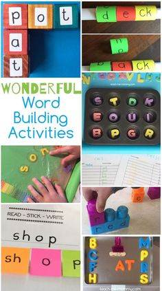 Wonderful Word Building Ideas, from a remedial therapist!