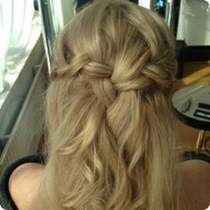 wedding hair. Interesting.