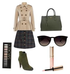 """Green"" by arutila on Polyvore featuring Burberry, Elie Tahari, Prada, Ray-Ban, By Terry and Forever 21"