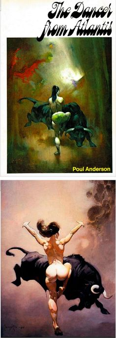 FRANK FRAZETTA - The Dancer from Atlantis - Poul Anderson - 1971 Nelson Doubleday / SFBC - cover by isfdb - print by frankfrazetta.net