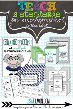 Activities that help math students understand the Common Core Standards for Mathematical Practice. Includes a foldable to summarize learning for their Interactive Notebook. Great way to start a new school year! 3rd Grade Classroom, 8th Grade Math, Math Classroom, Classroom Activities, Classroom Ideas, Standards For Mathematical Practice, Mathematical Practices, Math Practices, Core Standards