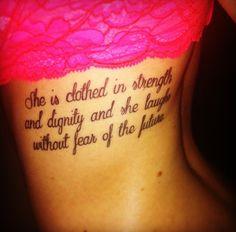 17613c700791 Proverbs 31 25 tattoo 3 Tattoo, Tattoo Fonts, Mandala Tattoo, Tattoo Quotes