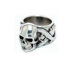 Large Skull And Roses Ring