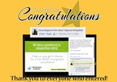 We have just finished the competition to name the immigration company! APPROVED Immigration ltd. The prize will go to Zoran Beganovi! Congratulation! Well done! Stay tuned, Soonest we will launch our newest company! Have a great day Everyone!