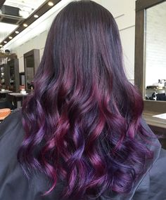 Tokyo→Malaysia→Singapore. Different hues of purple and violet in this hair color design at Number76 Publika.