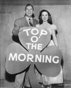 Bing Crosby and Ann Blyth☘ Top O The Morning, Good Morning Good Night, Bing Crosby, New Movies, In Hollywood, Album, Songs, Film, Movie Posters