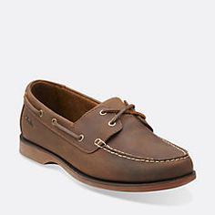 Port View Mahogany Leather - Men's Boat Shoes  - Clarks® Shoes Official Site
