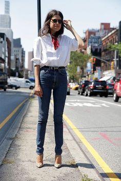 Steal Leandra Medine's Red Bandana Look   Le Fashion   Bloglovin'