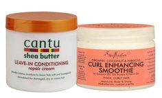Curly Girl newsflash: my favourite hair care: Shea Moisture Curl Enhancing Smoothie & Cantu Shea butter Leave in Conditioner. No shrinkage with this combination. If you want to see photo's of the result, check out the link.