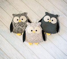 Materské dekor Roztomilý sovy Black škôlky Detská izba dekor Owl ornament čierna biela dekor s darčekmi pre svoje čiernej a šedej Woodland dieťa mobilný Kawaii