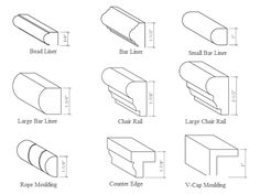 Chair Rail Profiles. Chair Rail Molding Styles Profiles Pinterest