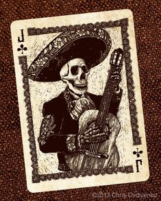 Jack of Clubs-Calaveras — Playing cards inspired by the Day of the Dead by Chris Ovdiyenko — Kickstarter