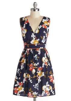 Watercolor Collector Dress, #ModCloth