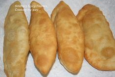 Aloo Pies - Trinidad Stuffed Fried Bread Recipe With a Spiced Potato Filling. In Barbados, you can get these at IV Play Deli, Sheraton Centre, Ch. Trinidadian Recipes, Guyanese Recipes, Jamaican Recipes, Carribean Food, Caribbean Recipes, Bread Recipes, Cooking Recipes, Sweets Recipes, Healthy Cooking